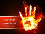 Burning Hand PowerPoint Templates