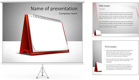 Calendar Powerpoint Template & Backgrounds Id 0000005794