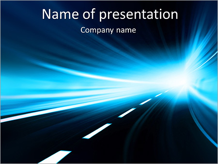 abstract tunnel drive powerpoint template backgrounds google