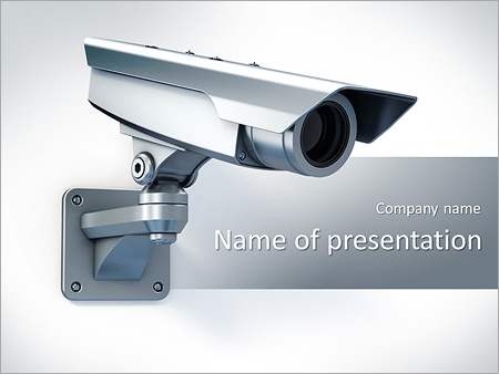 security camera powerpoint template & backgrounds id 0000005796, Presentation templates