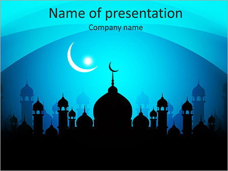 muslim mosque powerpoint template & backgrounds id 0000005799, Modern powerpoint