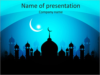 Muslim Mosque PowerPoint Template