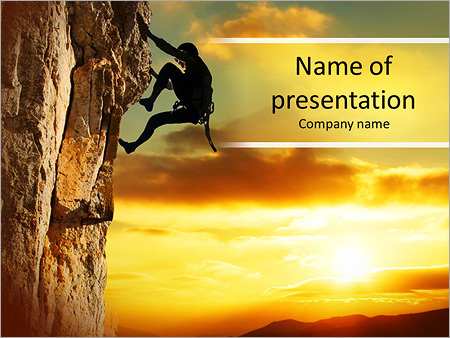 Rock climbing powerpoint template backgrounds google slides id rock climbing powerpoint template toneelgroepblik Gallery