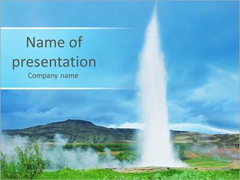 Huge Geyser PowerPoint Template
