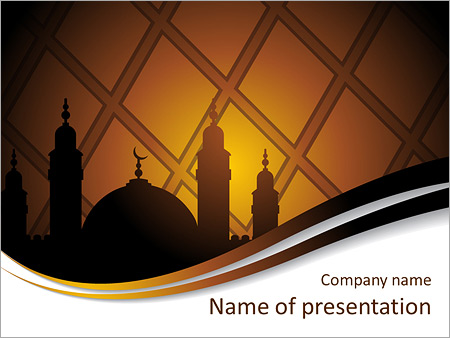 islam religion powerpoint template & backgrounds id 0000005823, Modern powerpoint