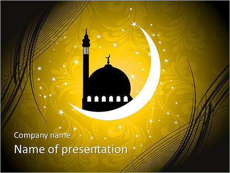 islam powerpoint template & backgrounds id 0000005824, Modern powerpoint