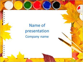 Colores de agua Plantillas de Presentaciones PowerPoint