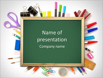 Materia de la escuela Plantillas de Presentaciones PowerPoint