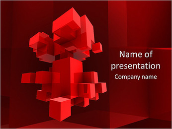 Red Graphic PowerPoint Template