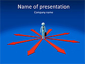 Businessman In Center Point Animated PowerPoint Template - Slide 1
