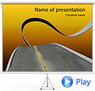 Twisting Road Animated PowerPoint Template
