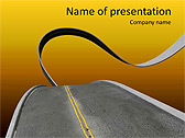 Twisting Road Animated PowerPoint Template - Slide 1