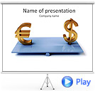 Dollar And Euro Sign Animated PowerPoint Templates