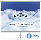 Plane Flight Animated PowerPoint Template