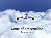 Plane Flight Animated PowerPoint Template - Slide 1