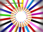 Pencils In Circle Animated PowerPoint Template - Slide 1