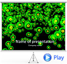 Green Abstract Dots Animated PowerPoint Template