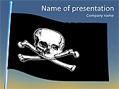 Skull Sigh Animated PowerPoint Templates - Slide 1