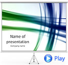 Green Light Lines Animated PowerPoint Template