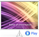 Lilac Abstraction Animated PowerPoint Template