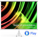 Green-Yellow Abstraction Animated PowerPoint Template