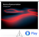 Red Light Effect Animated PowerPoint Templates
