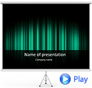 Green Color Vibration Animated PowerPoint Template