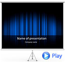 Blue Color Vibration Animated PowerPoint Template