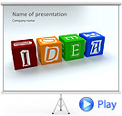 Idea Word On Tesseras Animated PowerPoint Templates