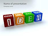 Idea Word On Tesseras Animated PowerPoint Templates - Slide 1