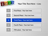Idea Word On Tesseras Animated PowerPoint Templates - Slide 2