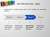 Idea Word On Tesseras Animated PowerPoint Templates - Slide 3