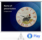 Antic Clock Animated PowerPoint Templates