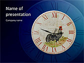 Antic Clock Animated PowerPoint Template - Slide 1