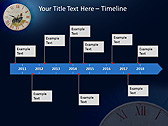 Antic Clock Animated PowerPoint Template - Slide 6