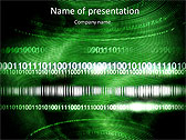 Green Matrix Abstraction Animated PowerPoint Template - Slide 1