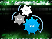 Green Matrix Abstraction Animated PowerPoint Template - Slide 16