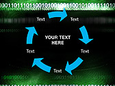 Green Matrix Abstraction Animated PowerPoint Template - Slide 20