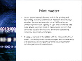 Blue Matrix Abstraction Animated PowerPoint Template - Slide 35