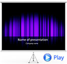Lilac Color Vibration Animated PowerPoint Template