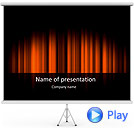Red Color Vibration Animated PowerPoint Template