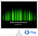 Light Green Vibration Animated PowerPoint Template