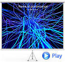 Abstract Blue Net Animated PowerPoint Template