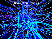 Abstract Blue Net Animated PowerPoint Template - Slide 1