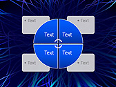 Abstract Blue Net Animated PowerPoint Template - Slide 14