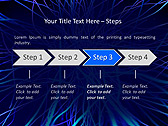 Abstract Blue Net Animated PowerPoint Template - Slide 3