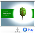 Tiny Green Leaf Animated PowerPoint Template