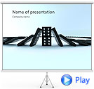 Playing Domino Animated PowerPoint Template
