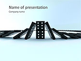 Playing Domino Animated PowerPoint Template - Slide 1
