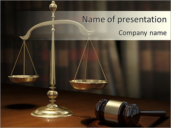 Court Attributes PowerPoint Template